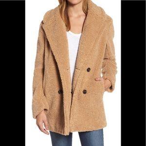 Kensie  teddy bear faux fur coat